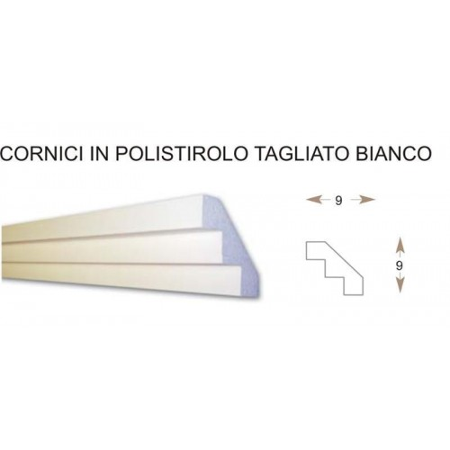 CORNICI IN POLISTIROLO 90 x 90 x 1000 MM DECORAZIONE ABBELLIMENTO CASA INTERNO