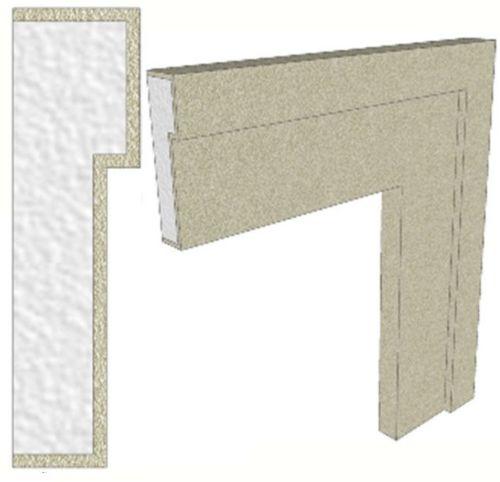 Cornici cornice interno esterno in polistirolo resinate for Cornici polistirolo per interni